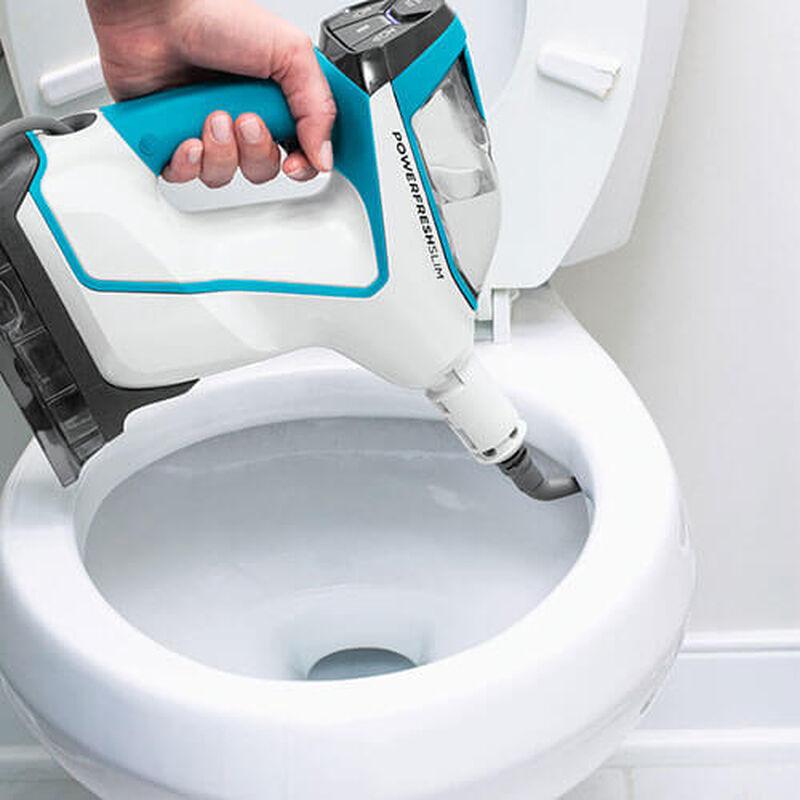 Slim Steam 2075 BISSELL Steam Mop Hard Floor Cleaner Steam Bathroom Toilet