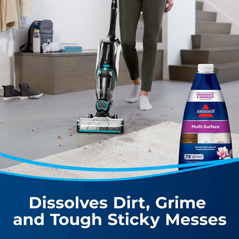 BISSELL Multi-Surface Formula 1789 CrossWave MultiSurface Wet Dry Vac SpinWave Spin Mop Messes