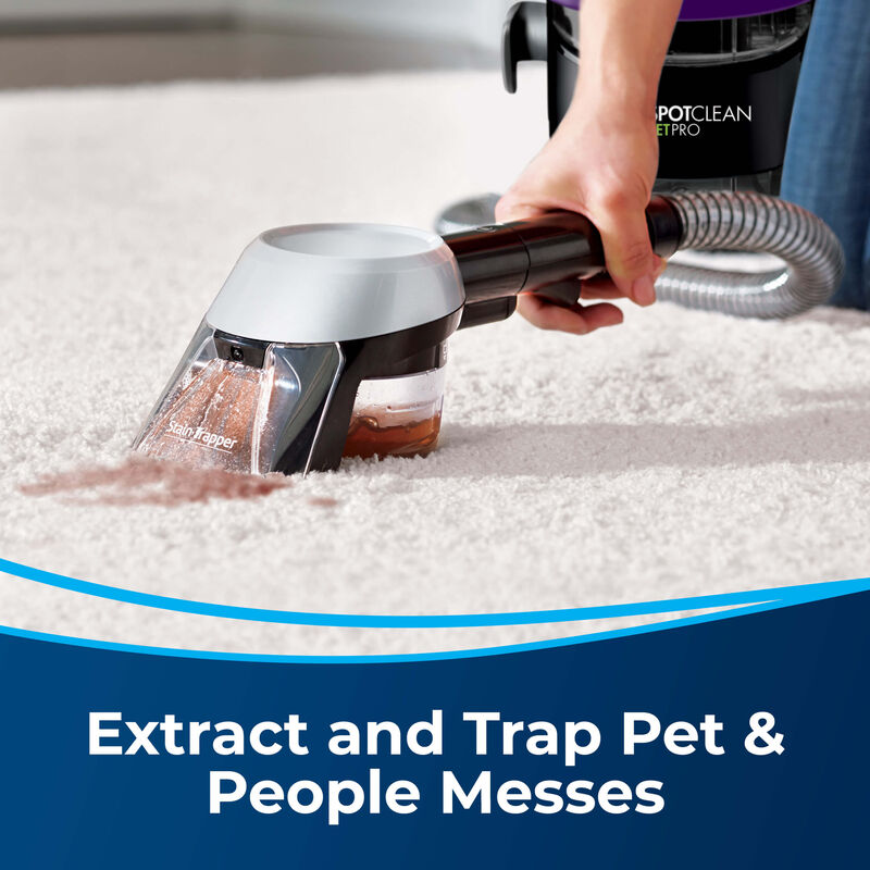 Stain Trapper Tool 1600057 Extract and Trap Pet & People Messes. Cleaning stain on carpet.