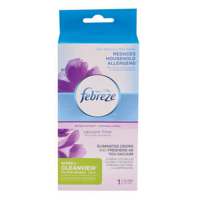 Febreze Cleanview Vacuum Filter Pleated 12151 package