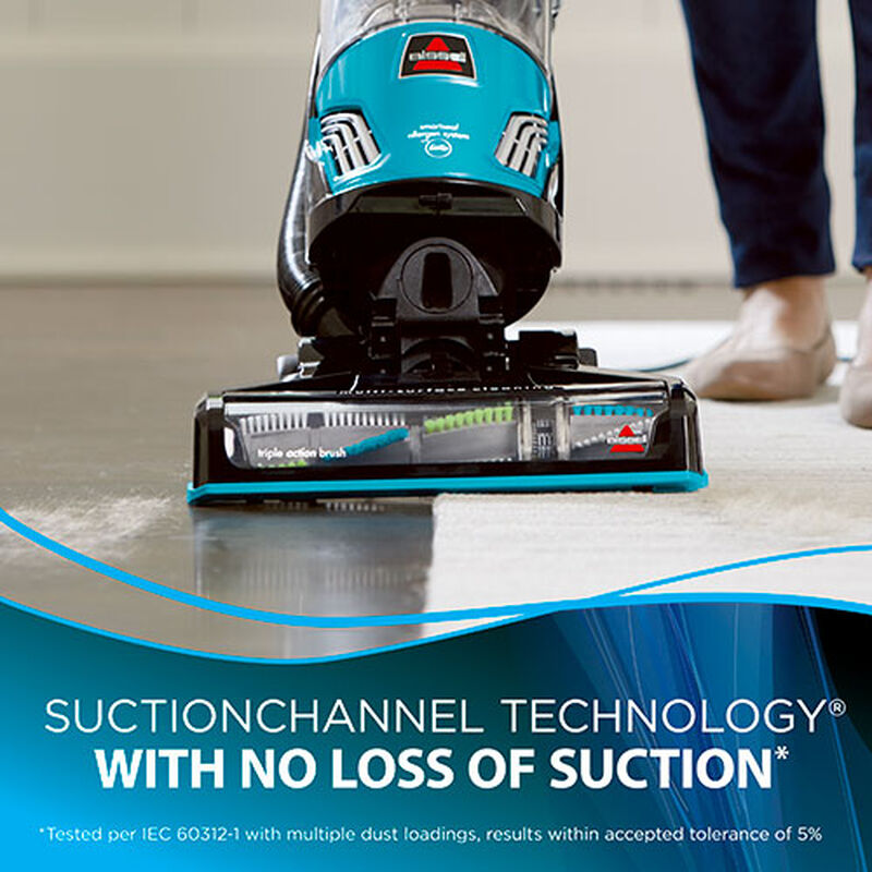 BISSELL PowerGlide® Pet Vacuum With SuctionChannel Technology 2215D Suction