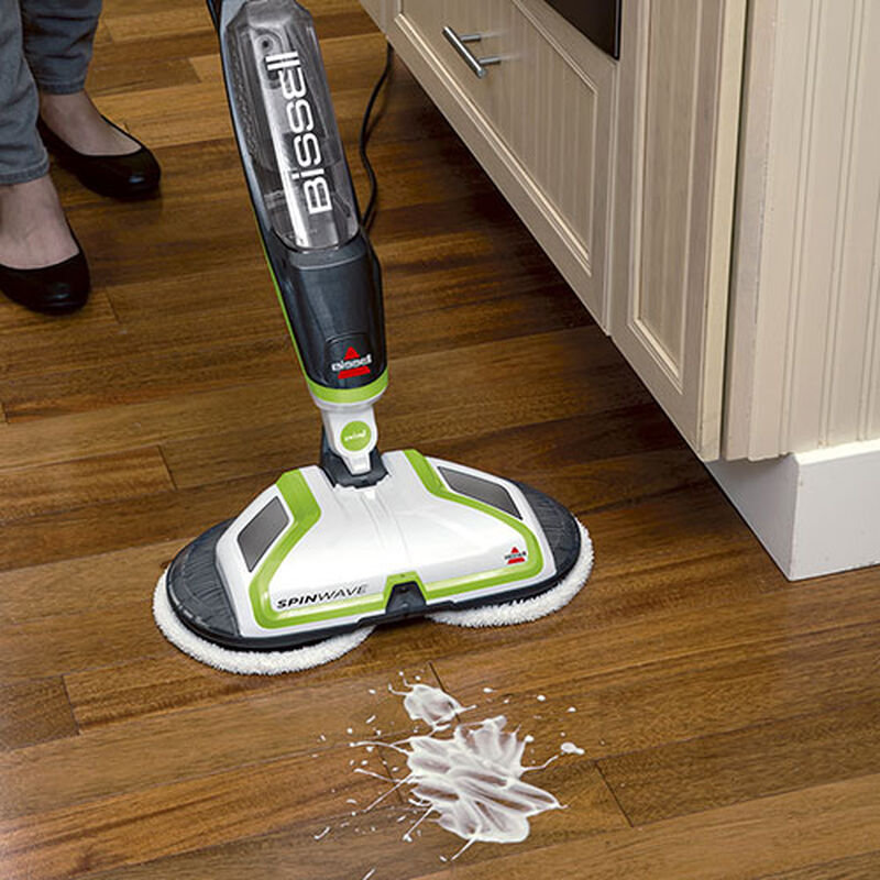 SpinWave Hard Floor Cleaner 2039 BISSELL White Mess Cleaning
