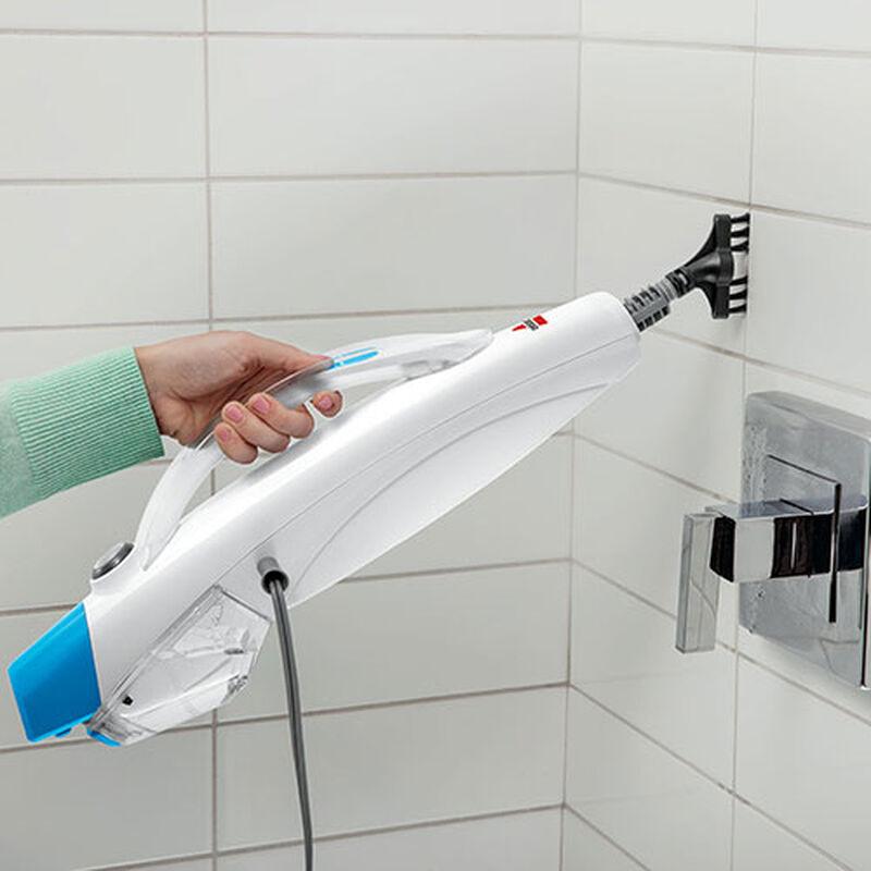 PowerEdge Steam Mop 20781 BISSELL Steam Cleaner Machine Bathroom Tile