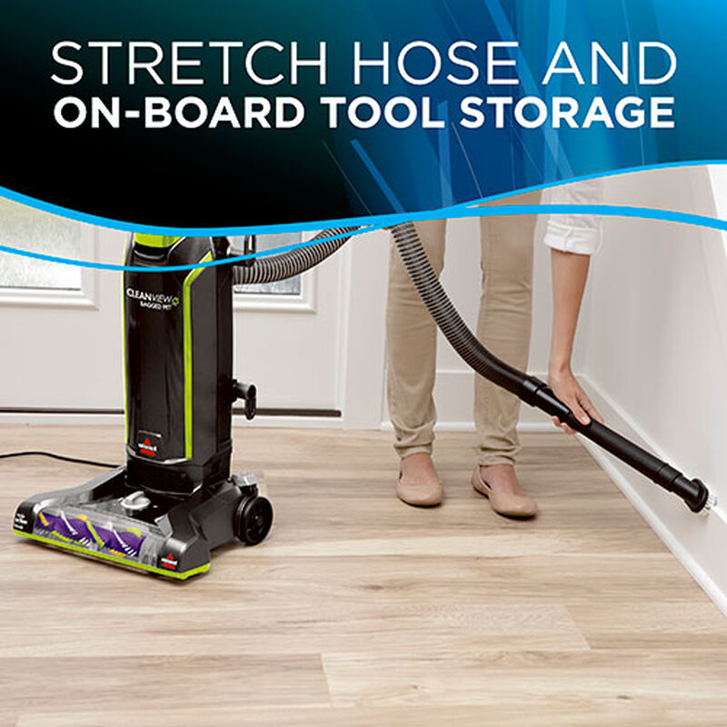 CleanView Pet Bagged Vacuum Cleaner 20191 BISSELL Baseboard Cleaning