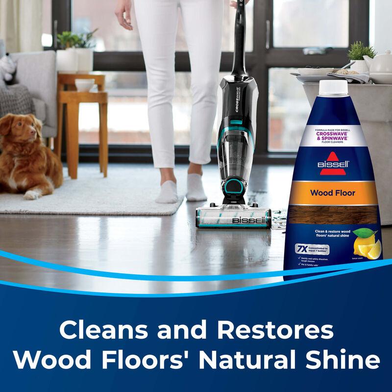 BISSELL Wood Floor Formula 1929 CrossWave Multi Surface Wet Dry Vac SpinWave Shine