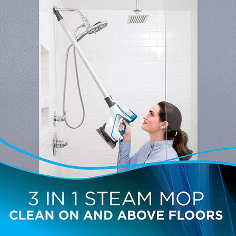 Slim Steam 2075 BISSELL Steam Mop Hard Floor Cleaner Steam Bathroom Shower Tile