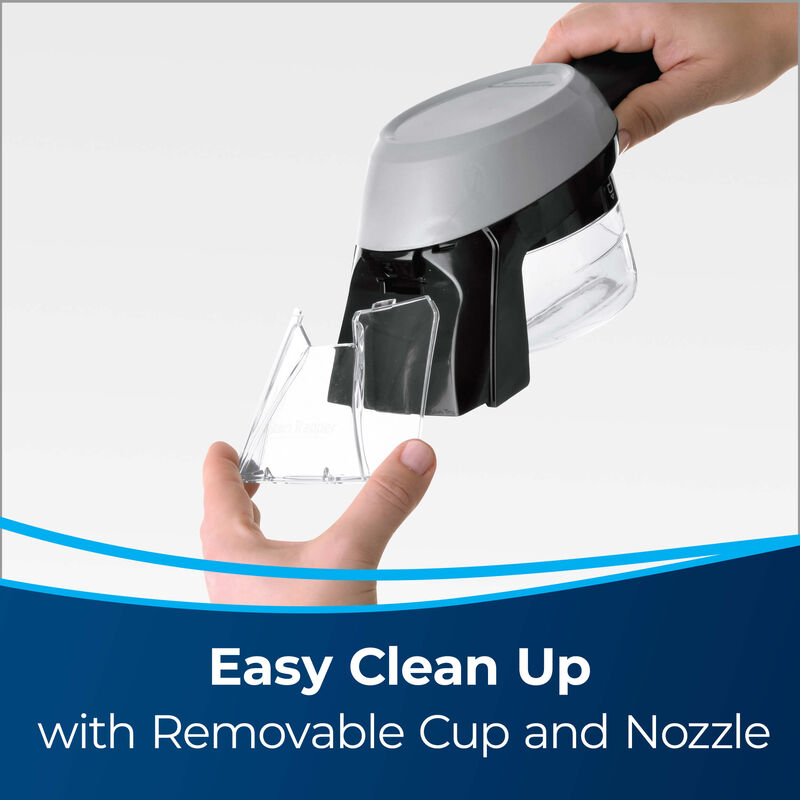 Stain Trapper Tool 1600057 Easy Clean Up with Removable Cup and Nozzle. Image of nozzle being removed from tool