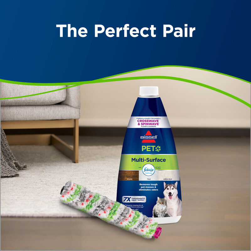 CrossWave Multi-Surface Wet Dry Vac PET Multi-Surface Brush Roll 1613568 Pair