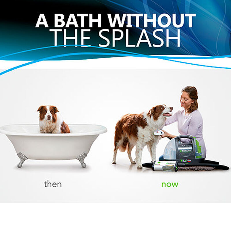 Bark_Bath_Portable_Dog_Cleaner_1844_BISSELL_Dog_Grooming_Bath_Without_Splash