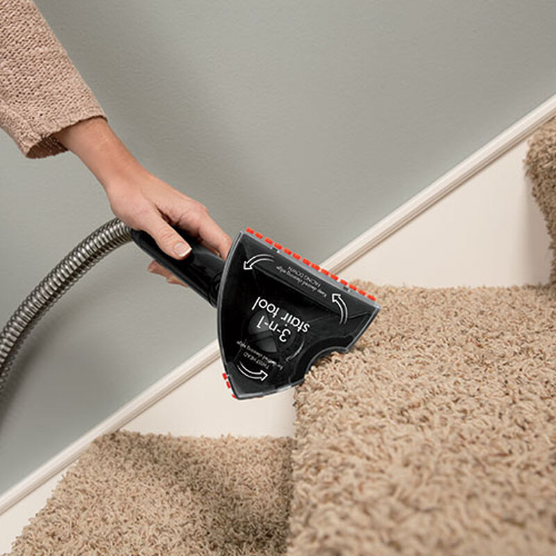 3 in 1 Stair Tool for Carpet Cleaners 1603650 Up Close on Stairs