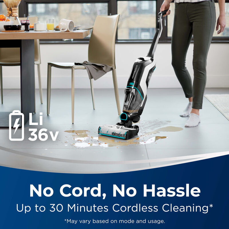 BISSELL CrossWave Cordless Max Multi Surface Wet Dry Vac No Cord