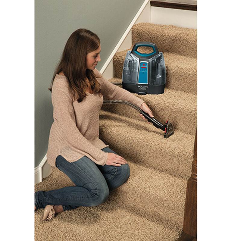 3 in 1 Stair Tool for Carpet Cleaners 1603650 Use of 3-in-1 Stair Tool with Portable Carpet Cleaner on Stairs
