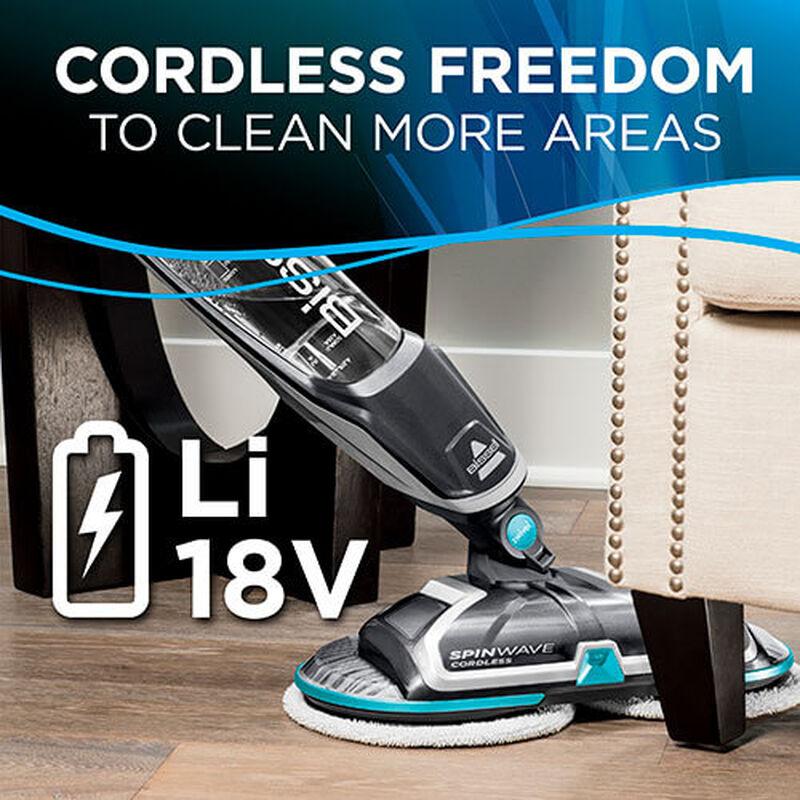 SpinWave_Cordless_2315_BISSELL_Hard_Floor_Spin_Mop_Foot_Swivel_Head