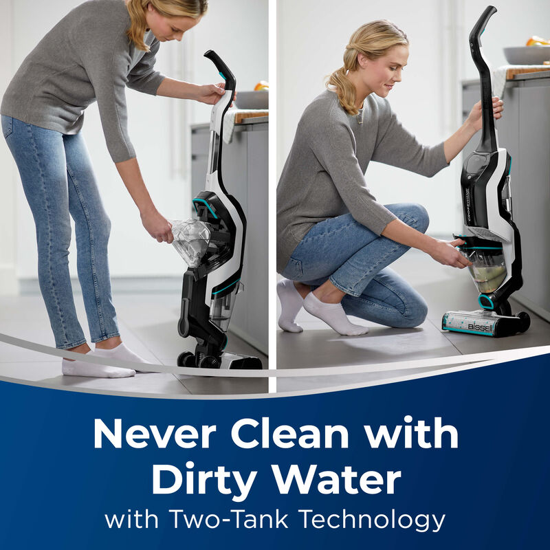 BISSELL CrossWave Cordless Max Multi Surface Wet Dry Vac Two Tank